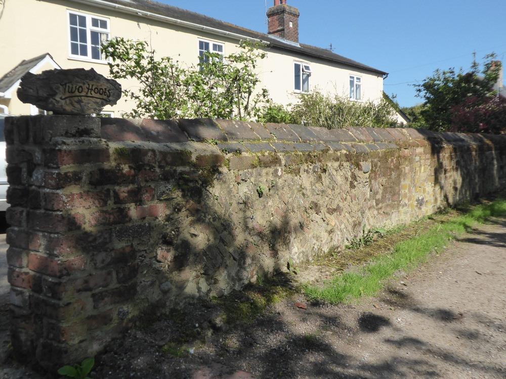 Wall detail at Upsher Green