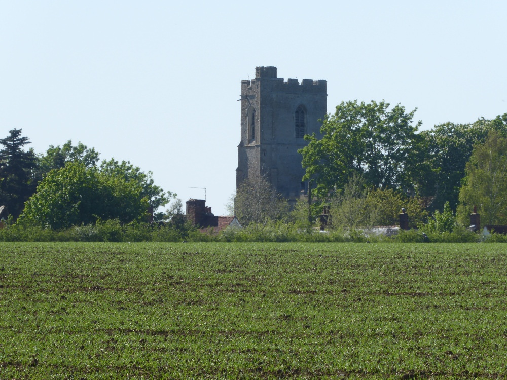 The church from Upsher Green