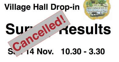 Village Drop-in Cancelled due to Lockdown again!
